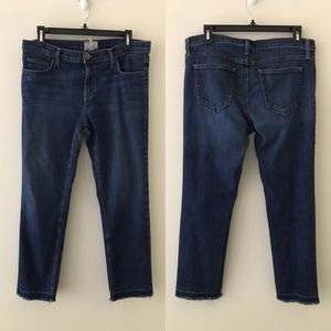 CURRENT/ELLIOTT The Cropped Stagecoach Jeans